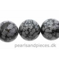 Snowflake Obsidian, rund, 16 mm, 1 streng