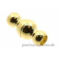Magnetlås t/læder, indv. 4,2mm, 8x17 mm, FG 925s, 1 stk.