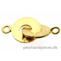 Lås, rund, børstet, ca. 28x15 mm, FG sølv 830, 1 stk.