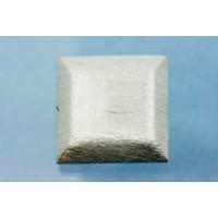 Perle, firkant, børstet,ca. 22x22x6 mm, 925s, 1 stk.