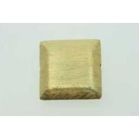 Perle, firkant, børstet, ca. 22x22x6 mm, FG 925s, 1 stk.