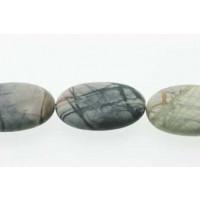 Picasso Jasper, oval, mat, ca. 18x25 mm, 1 streng