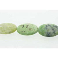 Green Grass, oval, mat, ca. 18x25 mm, 1 streng