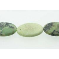 Green Grass, oval, mat, ca. 22x30 mm, 1 streng