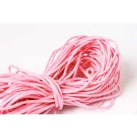 Bomuldssnøre, vokset, pink, 1,5 mm, 10 meter
