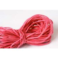 Bomuldssnøre, vokset, mørk pink, 1,5 mm, 10 meter