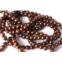 Glasperle, brun, 4 mm, 1 streng, ca. 80 cm