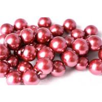 Glasperle, blommefarvet, 10 mm, 1 streng, ca. 40 cm