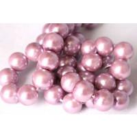 Glasperle, lavendel, 10 mm, 1 streng, ca. 40 cm