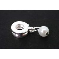 Mellemled m/perle, FS, ca. 9x22 mm, 1 stk.