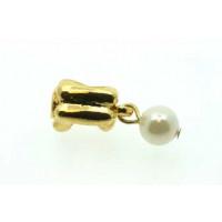 Vedhæng m/perle, FG, ca. 6x20 mm, 1 stk.