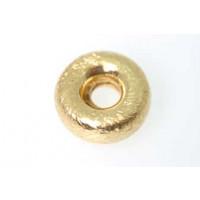 Perle, børstet, hjul. ca. 12x5 mm, FG 830s, 1 stk.
