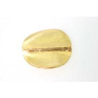 Perle, rund, flad, børstet, ca. 25 mm, FG 830, 1 stk.