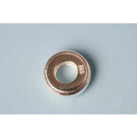 Mellemperle, hjul, ca. 9,3x3 mm, indv. 4,4 mm, 925s, 1 stk.