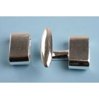 Hægtelås, FS, ca. 20x21x9 mm, 1 sæt