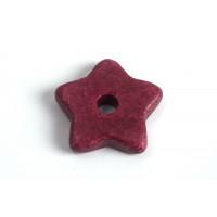 Keramikstjerne, bordeaux, ca. 15 mm, 2 stk.