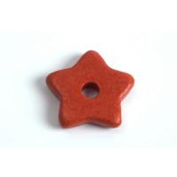 Keramikstjerne, tomatrød, ca. 15 mm, 2 stk.