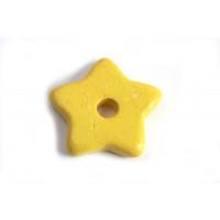 Keramikstjerne, gul, ca. 15 mm, 2 stk.