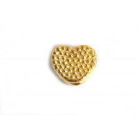 Hjerte m/prikker, 7x3 mm, FG, 20 stk.