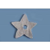 Stjerne, børstet, midterboret, 11 mm, FS, 2 stk.