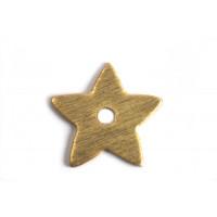 Stjerne, børstet, midterboret, 11 mm, FG, 2 stk.