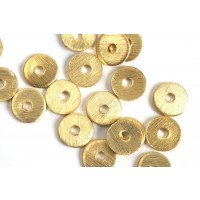 Mønt, børstet, midterboret, 6 mm, FG, 6 stk.