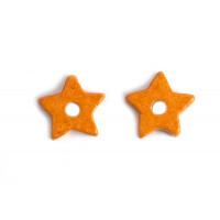 Keramikstjerne, orange, ca. 9,5 mm, 10 stk.