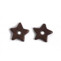 Keramikstjerne, brun, ca. 9,5 mm, 10 stk.