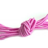 Elastiktrå, lyserød, 1 mm, 3 meter