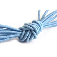 Elastiktråd, lyseblå, 1 mm, 3 meter