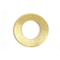 Ring m/hul, børstet, 30 mm, FG, 1 stk.