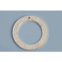 Ring m/hul, børstet, 20 mm, FS, 2 stk.