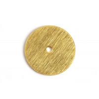 Mønt, børstet, midterboret, 18 mm, FG, 2 stk.