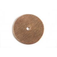 Mønt, børstet, midterboret, 18 mm, RG, 2 stk.