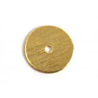 Mønt, børstet, midterboret, 14 mm, FG, 2 stk.