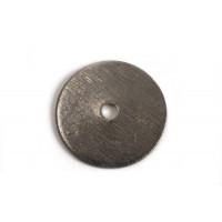 Mønt, børstet, midterboret, 14 mm, BP, 2 stk.