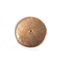 Mønt, børstet, midterboret, 14 mm, RG, 2 stk.