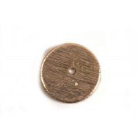 Mønt, børstet, midterboret, 10 mm, RG 2 stk.