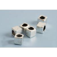 Perle, firkantet, 4x4x4 mm, FS, 20 stk.