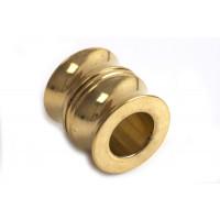 Perle m/riller, 11x11 mm, FG rustfrit stål, 1 stk.