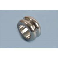 Perle, m/riller, 6x10 mm, rustfrit stål, 1 stk.