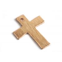 Kors, børstet, ca. 8x18 mm, RG, 2 stk.