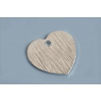 Hjerte, børstet, ca. 12x12 mm, FS, 2 stk.