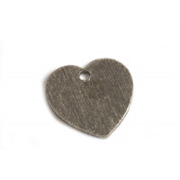 Hjerte, børstet, ca. 12x12 mm, BP, 2 stk.