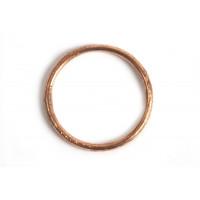 Børstet ring, 1,2 mm, indv. ca. 14 mm, RG, 2 stk.