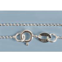 Halskæde, kuglekæde, 45 cm x 1,2 mm, sølv 925s, 1 stk.