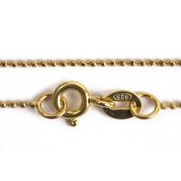 Halskæde, kuglekæde, 60 cm x 1,2 mm, FG 925s, 1 stk.