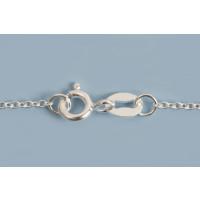 Halskæde, ankerkæde, 80 cm, sølv 925s, 1 stk.