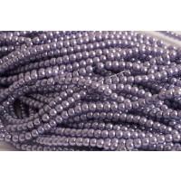 Glasperle, lyselilla, 3 mm, 1 streng, ca. 70 cm