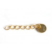 Kædeforlænger m/mønt, 20 mm, FG 925s, 1 stk.